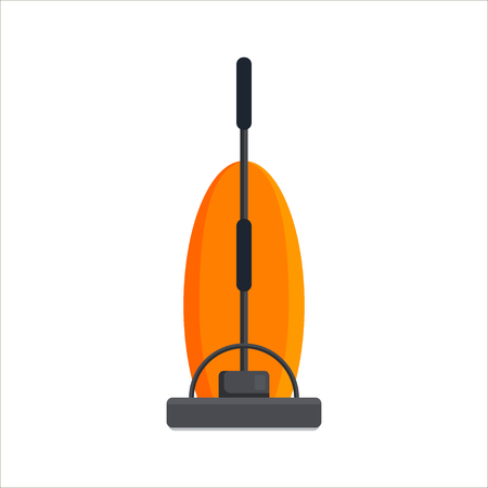 Flat vacuum cleaner icon icon isolated on white background. Electrical for house cleaning. Household equipment. Vector illustration.