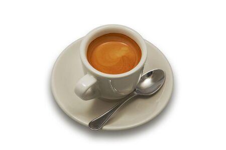 Taza de caf� solo. Aislados en blanco.