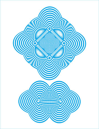 abstract spiral design with moire effect built with multiply intersections Vector