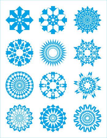 concentric: bursts and circular designs (stars) #1 Illustration
