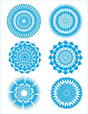 circulos concentricos: R�fagas y dise�os circulares (estrellas) # 2
