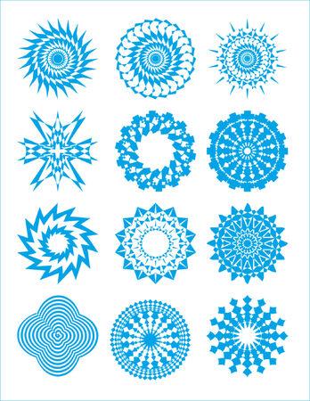 bursts and circular designs (stars) #3 Vector