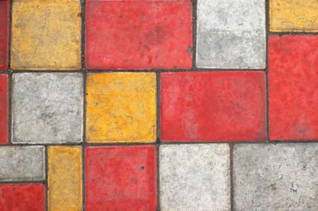 Bright colored paving slab texturebackground #1 photo