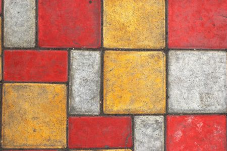 Bright colored paving slab texturebackground #2 photo