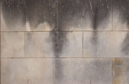 gray smoked and dirty cement bricks grunge texture Stock Photo - 668231