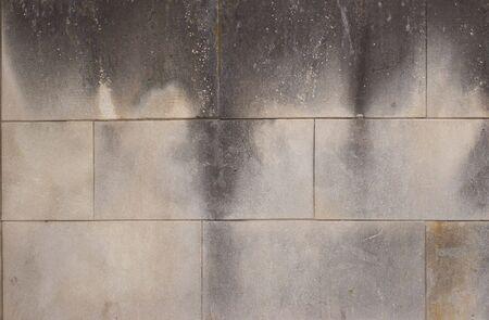 cementum: gray smoked and dirty cement bricks grunge texture