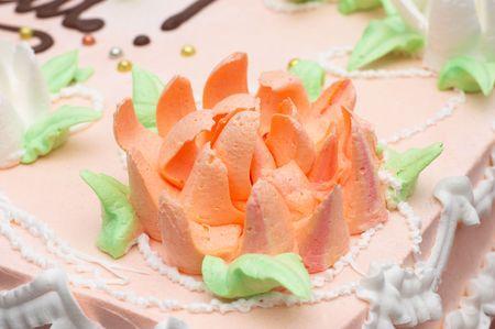 florish: multi-colored florish cream decoration on cake