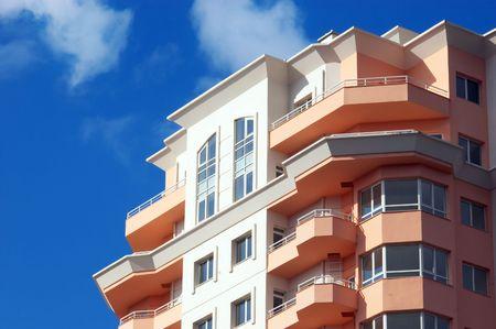 droomhuis: net gebouwde, moderne appartementen blok, droomhuis