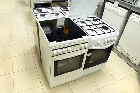 Equipamiento dom�stico (lavadoras y estufas de gas) organiz� en la tienda