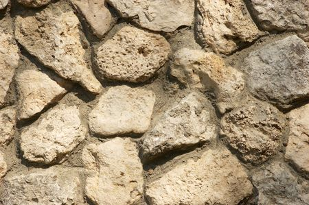 wall built from limestone, textured background Stock Photo - 2817664