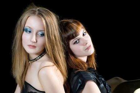 pair of sexy looking young young girls photo