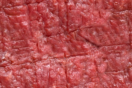animal texture: SEAMLESS texture material, raw red beef steak meat, good for 3D modeling or as background Stock Photo