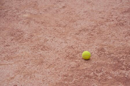 tennis ball at the court, selective focus photo