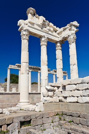 Ancient temple of Trajan, Bergama, Turkey Stock Photo - 9585741