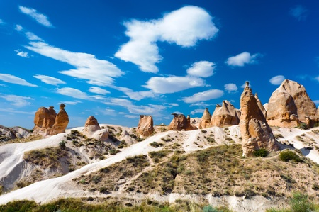 Sandstone rock similar to camel in the Cappadocia, Turkey Banco de Imagens