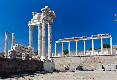 Ancient temple of Trajan, Bergama, Turkey photo