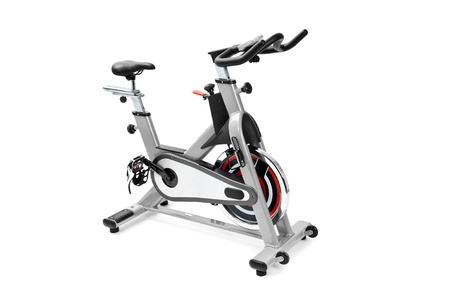 Fitnessgeräte, Spinnmaschine für Cardio-Workout Standard-Bild