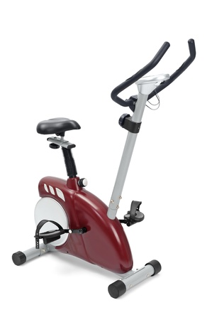 workouts: gym equipment, spinning machine for cardio workouts