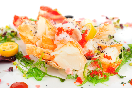 conch: Lobster salad in japanese style with chuka seaweed and tobico