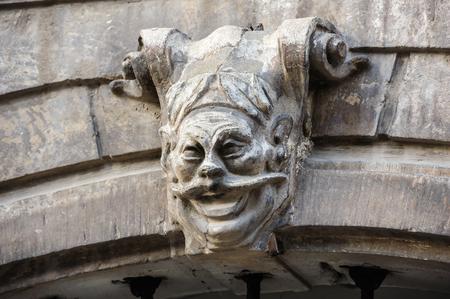 gargoyle: Scary gargoyle on the gateway in Lviv, Ukraine