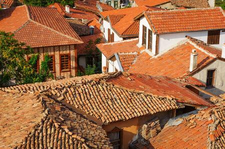 Qui a fait naufragés toits de la vieille ankara, capitale de la Turquie Banque d'images - 25326022