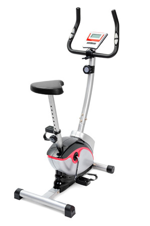gym equipment, spinning machine or inddor bike for cardio workouts photo
