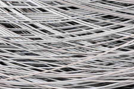 hank: hank of metal wire, selective focus Stock Photo