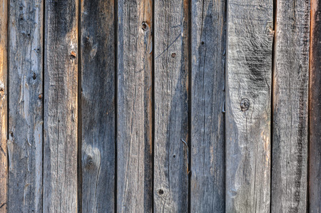 driftwood: vertical grey aged wooden boards plank background Stock Photo