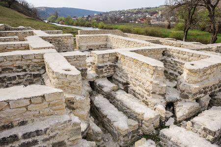 Ruins of Golden Horde bath, old Orhei, Moldova Stock Photo