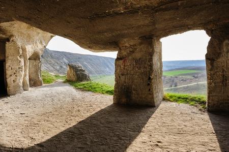 limestone caves: Abandoned limestone mines in Old Orhei, Moldova