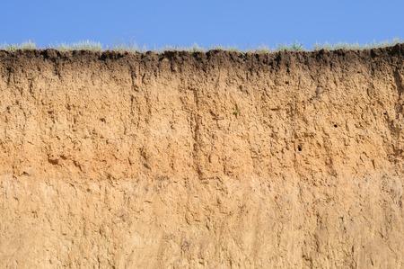 다른 레이어, 잔디와 하늘 토양의 절단