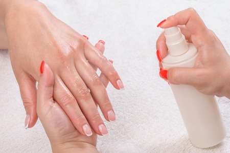 manicure applying - moisturising photo