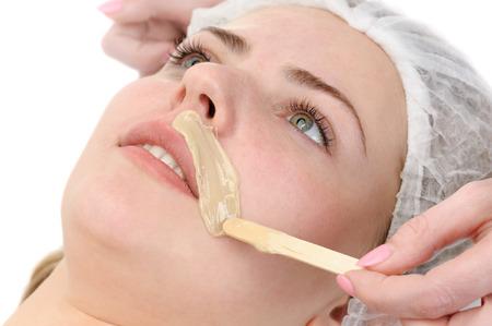 Schnurrbart Enthaarung Standard-Bild