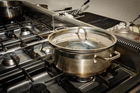 cooking utensils: real restaurant kitchen