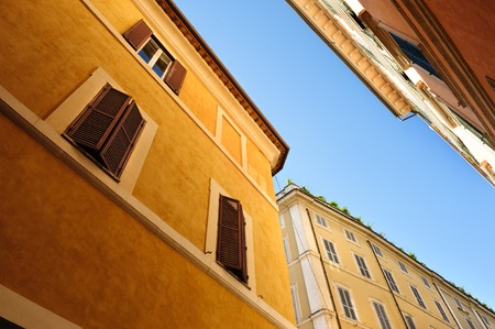 roman blind: Old streets of Rome, Italy