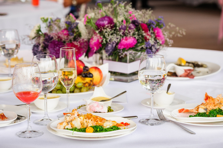 Prepared lobster on plate photo