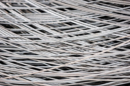 old spools: hank of metal wire background