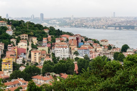 constantinople: Istanbul cityscape shot from Asian shore of Bosphorus