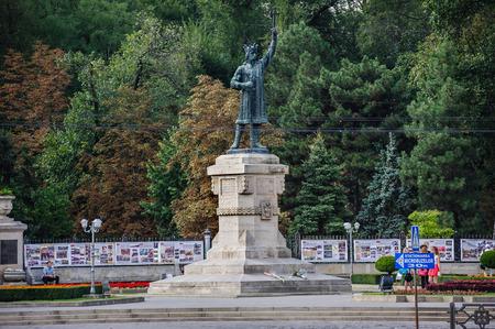 cel: Monumento di Stefano il Grande, cel Mare, a Chisinau, Moldova Archivio Fotografico