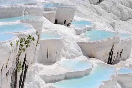 natural wonders: Travertine pools and terraces in Pamukkale, Turkey
