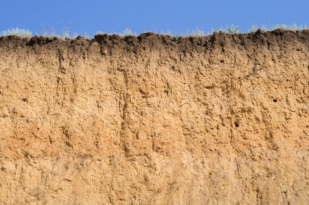 土壌のレイヤード カット 写真素材