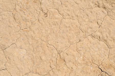 Kleigrond textuur achtergrond, gedroogde oppervlak Stockfoto