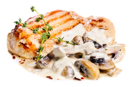 Pork escalope with mushrooms