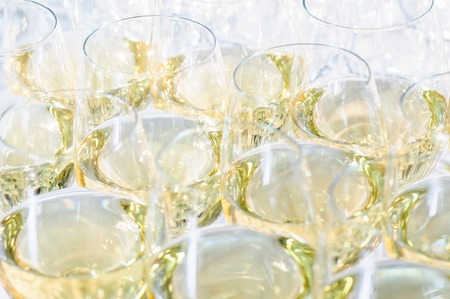 banket: glasses with cognac or brandy