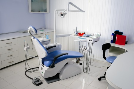 dental calculus: dentist office interior Stock Photo