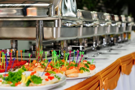 trays: catering wedding