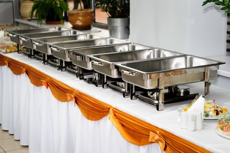 trays: boda catering Foto de archivo