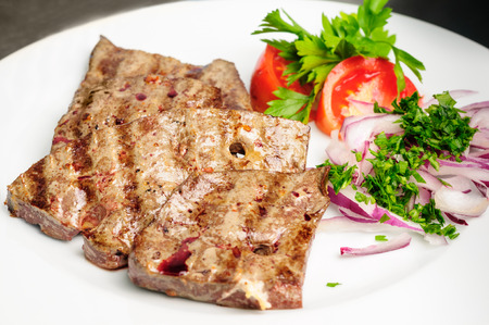 Beef liver3: fried beef liver with vegetables