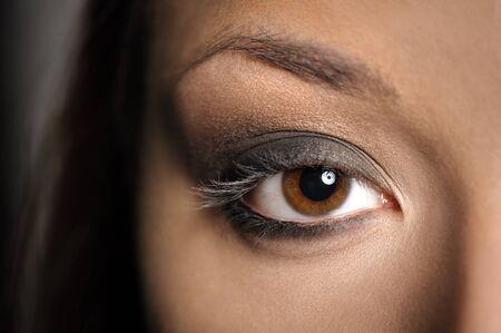 smokey: Brown Eye Smoky Makeup Stock Photo