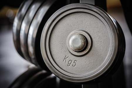 powerlifting: Barbell plates rack